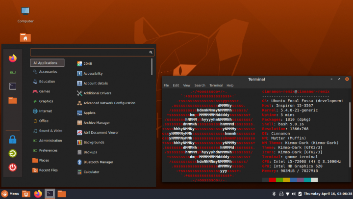 "Ubuntu Cinnamon 20.04 LTS ""Focal Fossa"" Release Notes"