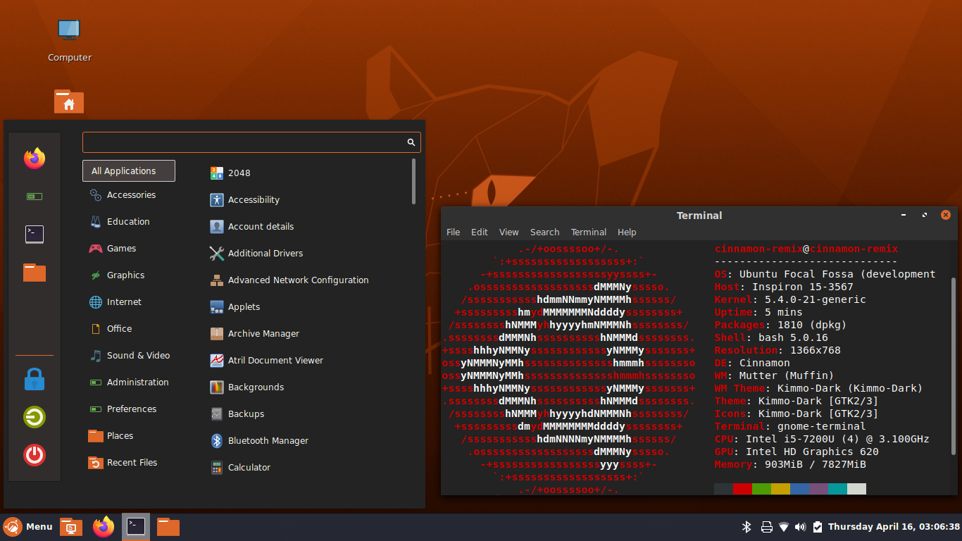 "Ubuntu Cinnamon 20.04 LTS ""Focal Fossa"" Release Notes   Ubuntu Cinnamon  Remix"