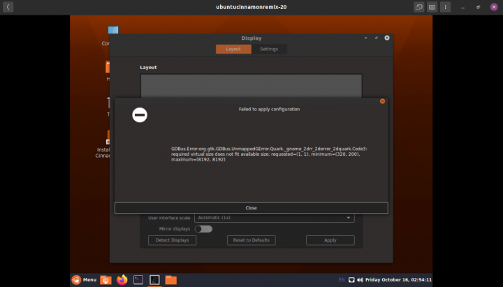 Ubuntu Cinnamon 20.10 'Groovy Gorilla' Release Candidates Available